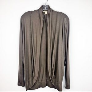 Brown Light Open Front Cardigan Size S
